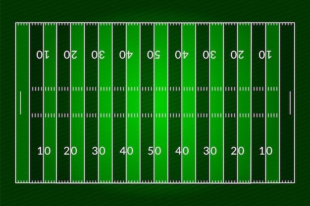 Campo di calcio americano realistico