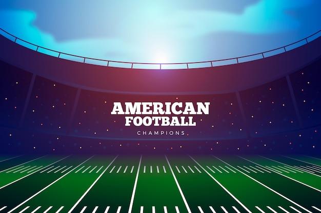 Realistic american footbal stadium