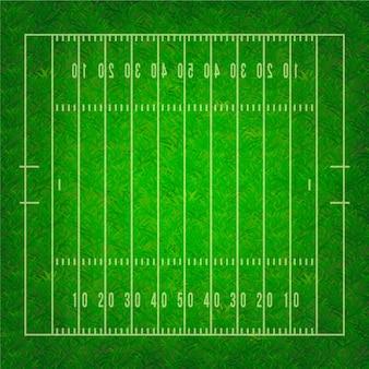 Campo di football americano realistico in vista dall'alto
