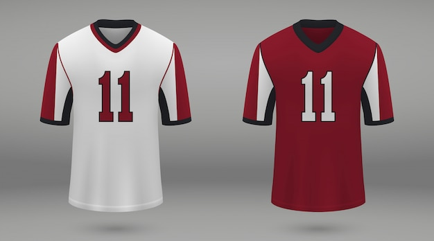 Realistic american football jersey