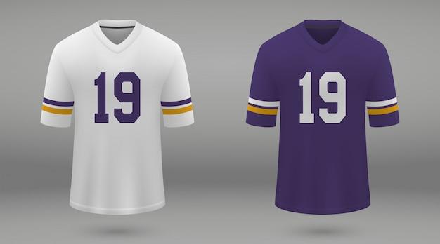 Realistic american football jersey