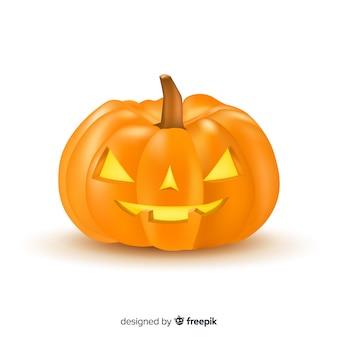 Realistic angry halloween pumpkin