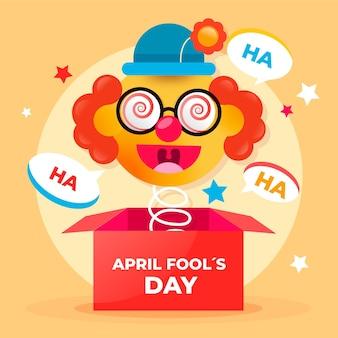Realistic april fools' day illustration