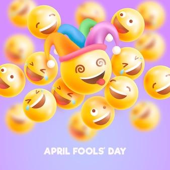 Реалистичная иллюстрация дня дурака