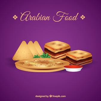 Realistic arabian food
