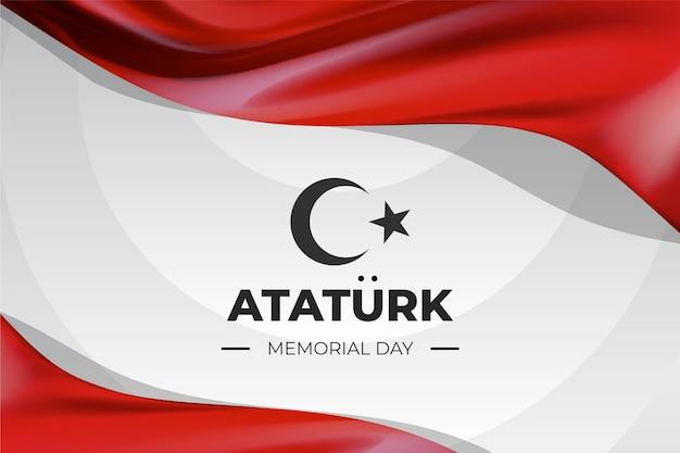 Sfondo realistico del giorno della memoria di ataturk