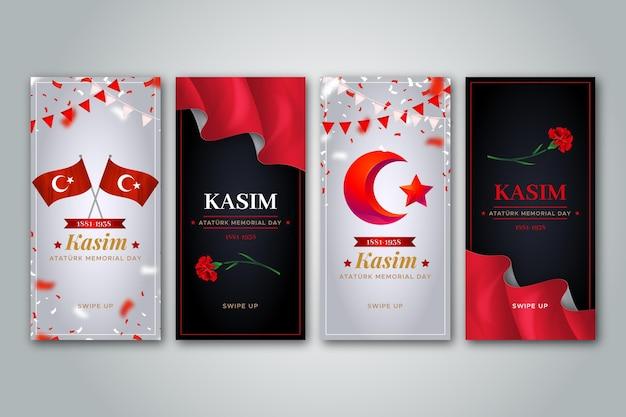 Raccolta realistica di storie di instagram di ataturk memorial day