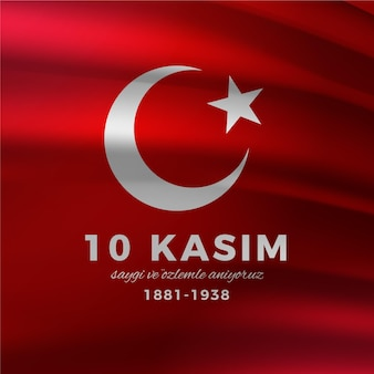 Realistic atatürk memorial day