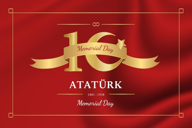 Realistic atatürk memorial day