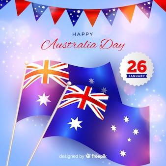 Реалистичный фон день австралии