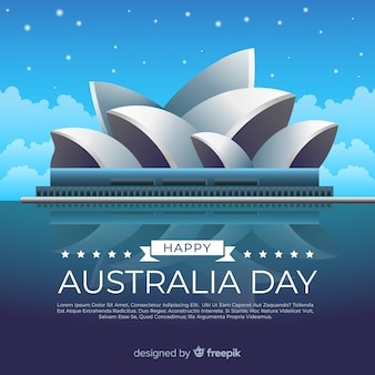 Realistic australia day background