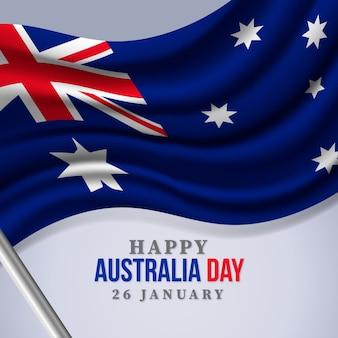 Realistic australia day concept