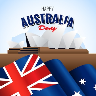 Giorno realistico dell'australia e città di sydney