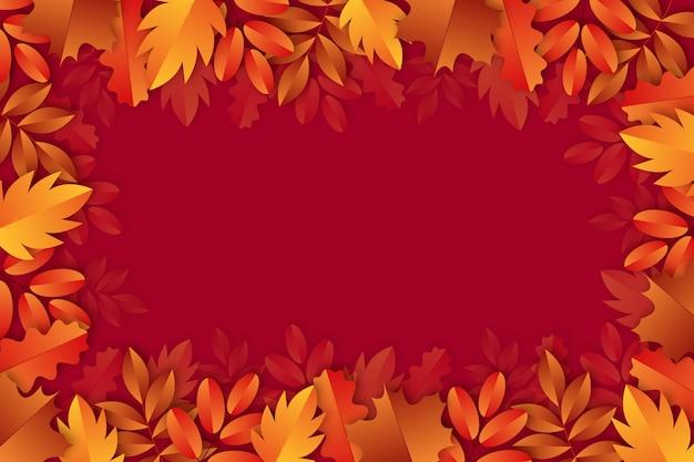 葉と現実的な秋の背景