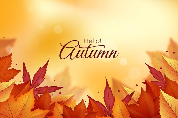 Realistic autumn background