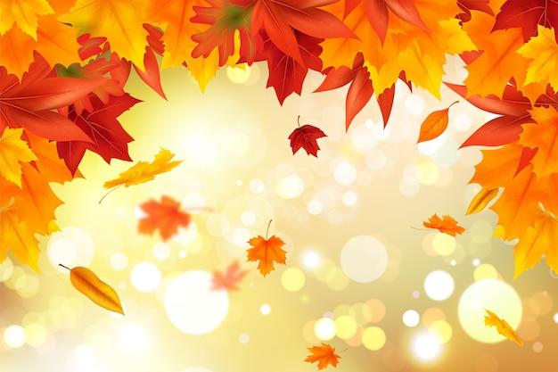 Realistic autumn background
