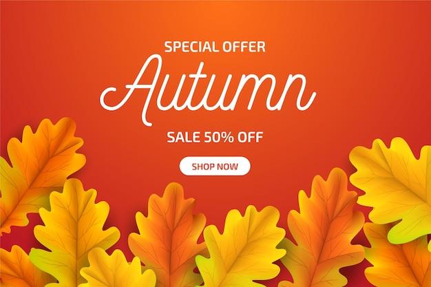 現実的な秋の販売コンセプト