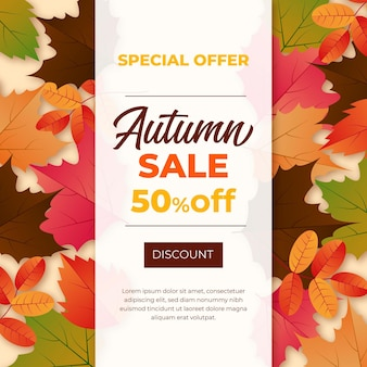 Realistic autumn sale