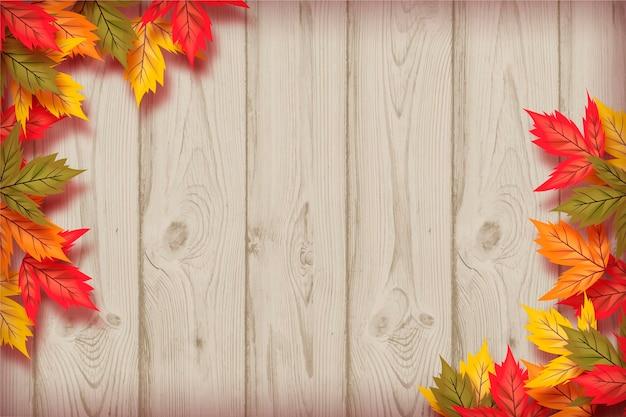 現実的な秋の壁紙のテーマ