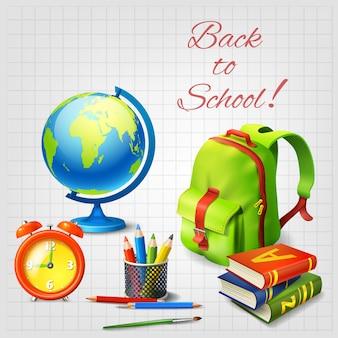 Illustrazione realistica di ritorno a scuola