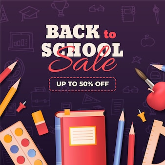 Realistic back to school sales