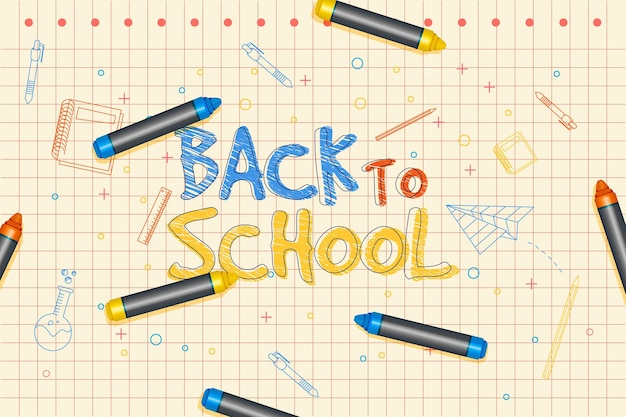 Realistic back to school wallpaper