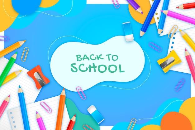 Реалистичный обратно в школу