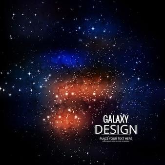 Galaxy sfondo colorato