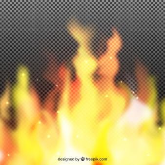 Sfondo realistico di fiamme