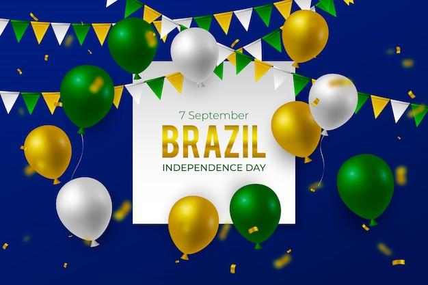 Реалистичный фон на день независимости бразилии