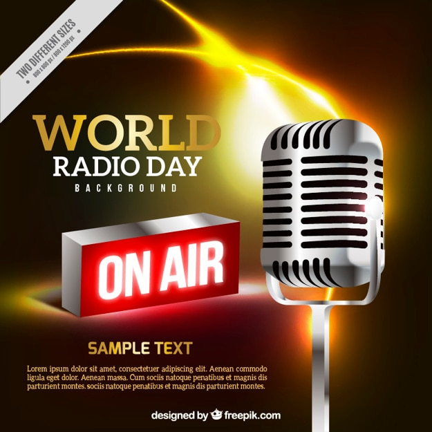 세계 라디오의 날에 대 한 확성기의 현실적인 배경