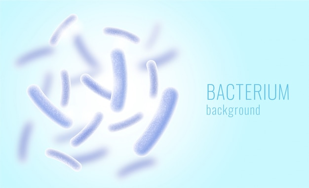 Realistic bacterium background