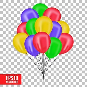 Realistic Balloon colorful 3D