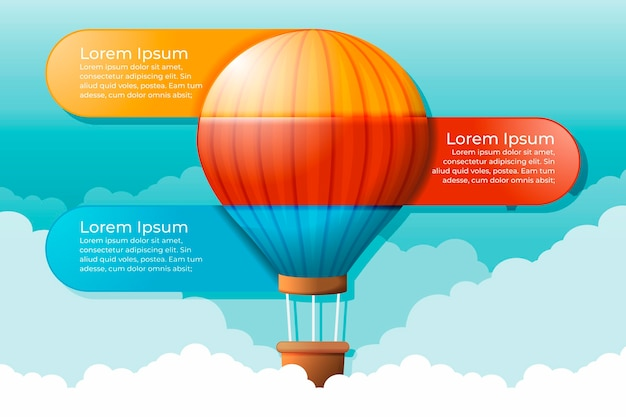 Realistic balloon infographic concept