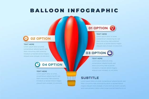 Realistic balloon infographic