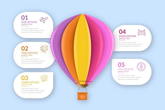 Реалистичный воздушный шар инфографики