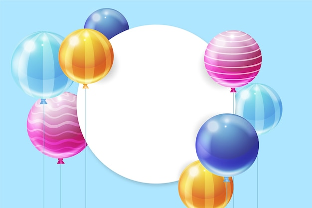 Realistic balloons design for birthday celebration