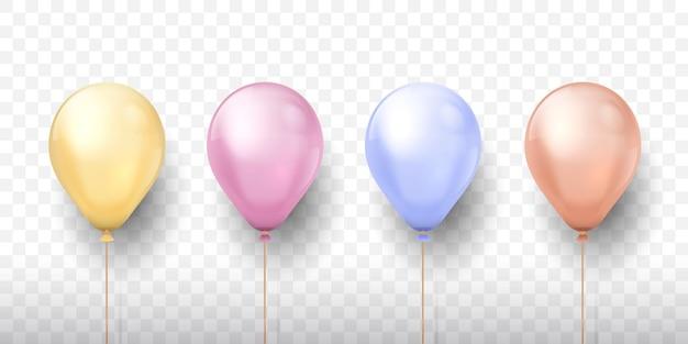 Реалистичные воздушные шары иллюстрация