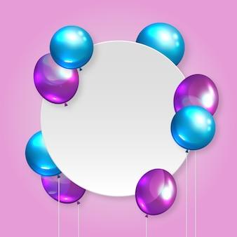 Реалистичные воздушные шары в двух цветах