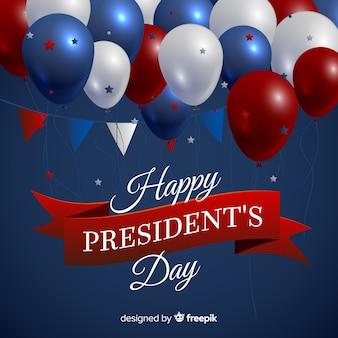 Реалистичные шары день президентов фон