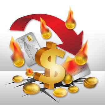 現実的な破産のコンセプト