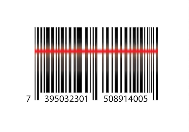 Realistic bar code icon. a modern simple flat barcode. marketing, the concept of the internet. fashionable sign of a market trademark for website design, mobile application.