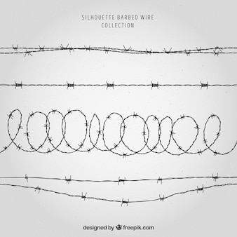 Realistic barbed wire collection