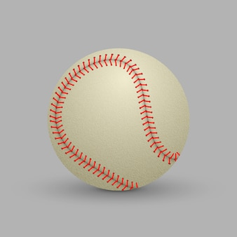 Realistic baseball ball  isolated on white background.