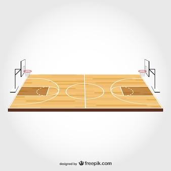 Баскетбольная площадка свободного вектора