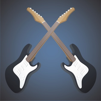 Realistic bass on blue background.