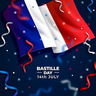 現実的なフランス革命記念日のコンセプト