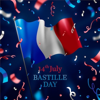 Realistic bastille day concept
