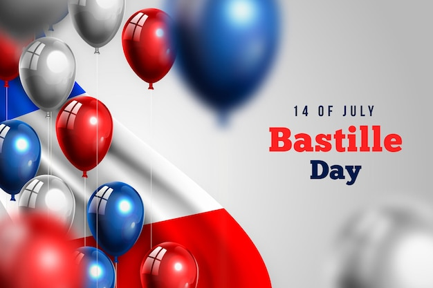 Realistic bastille day design