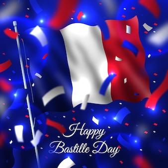 現実的なフランス革命記念日のテーマ